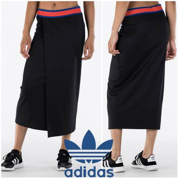 1e1acebf099833 adidas Skirts | Originals Black Embellished Arts Long Skirt | Poshmark